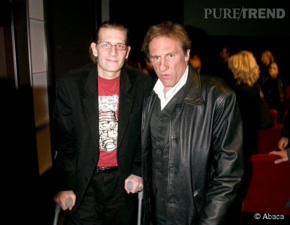 Gérard Depardieu et Guillaume Depardieu, en octobre 2002.
