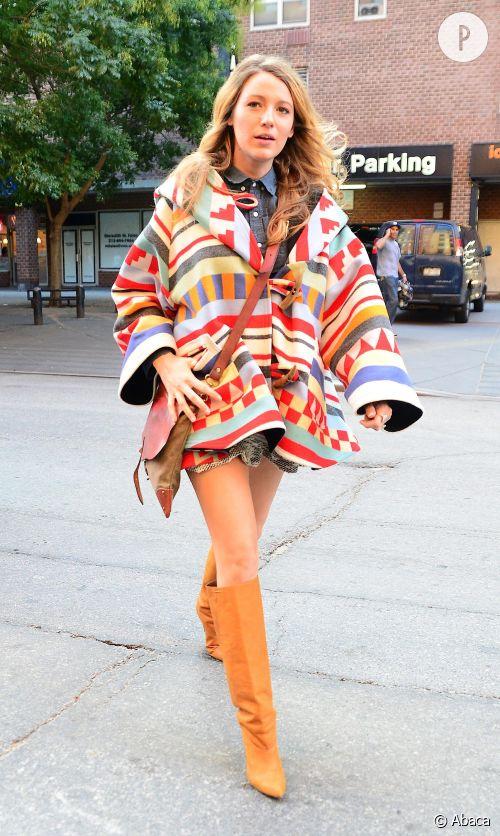 Blake Lively dans les rues de New York le 17 octobre 2014.
