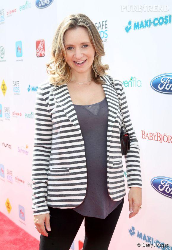 """Beverley Mitchell la star de """"7 à la maison"""" est aujourd'hui âgée de 33 ans et attend son deuxième enfant, un petit garçon."""