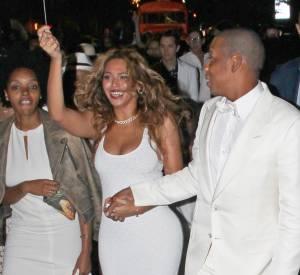 Beyoncé et Jay-Z, plus amoureux que jamais au mariage de Solange Knowles et Alan Ferguson.