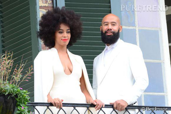 Solange Knowles et Alan Ferguson, lors de leur mariage ce week-end à la Nouvelle-Orléans.