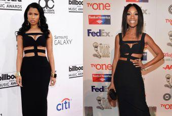 Nicki Minaj vs Brandy : la robe bandage Alexander McQueen