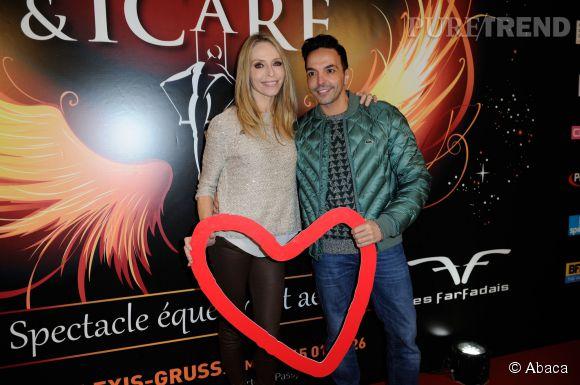 Tonya Kinzinger aux côtés de Kamel Ouali au gala caritatif du cirque Alexis Gruss donnée au profit de l'association Mécénat Chirurgie Cardiaque le 20 novembre 2014.