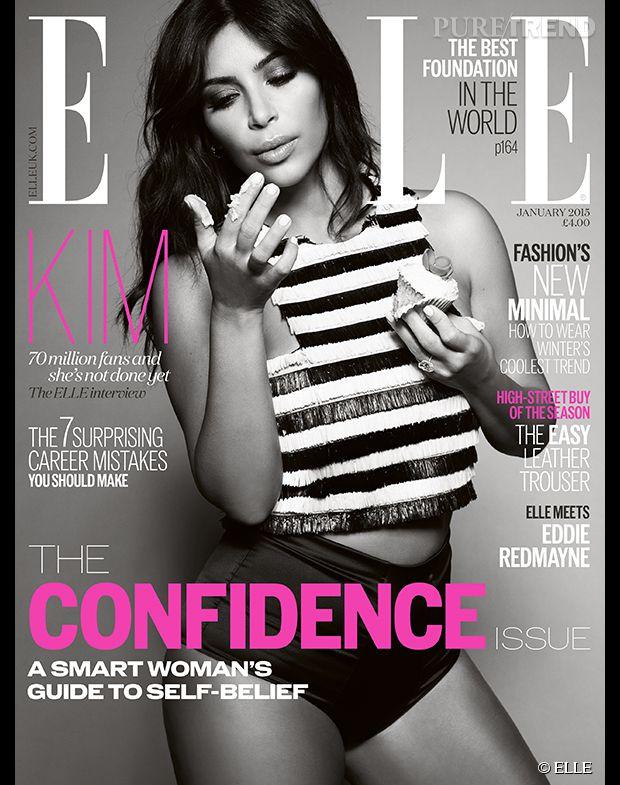 Kim Kardashian, gourmande pour le  ELLE UK .