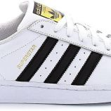 Baskets basses à lacets superstar blanc femme - adidas