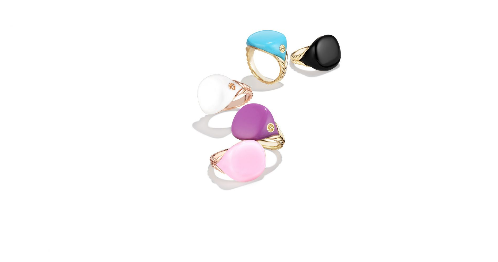 Bubblegum Pinky rings, l'irrévérence gourmande de David Yurman